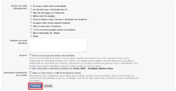 Cómo desactivar tu cuenta de Facebook