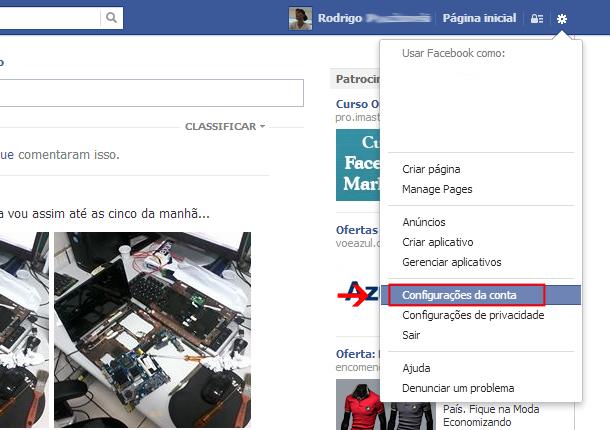 como saber se alguem entrou no seu facebook