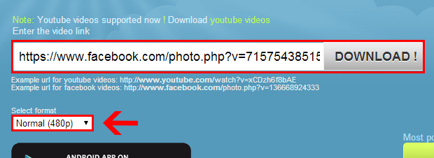 """4º Passo – Depois na tela seguinte clique no botão """" Download ..."""