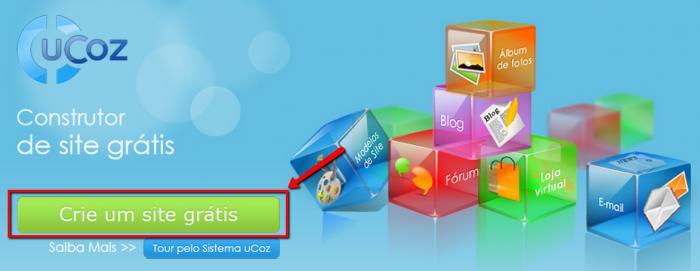 Cómo hacer un sitio web uCoz 2