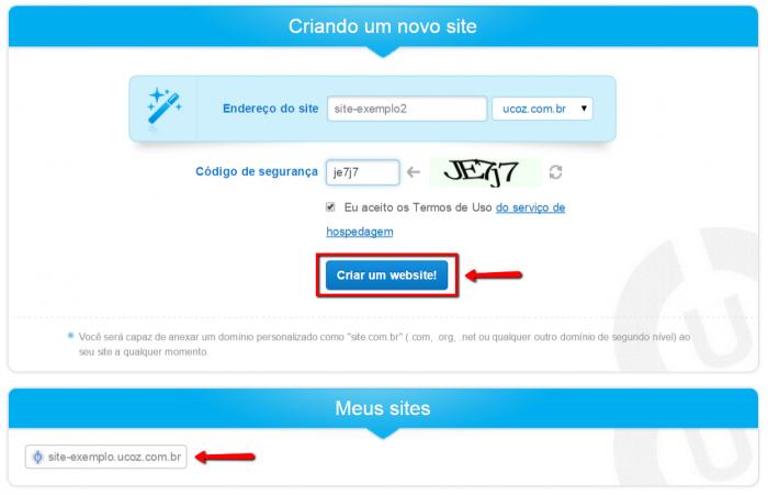 Cómo hacer un sitio web uCoz 6