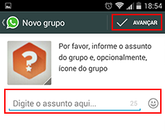 como criar um grupo no whatsapp