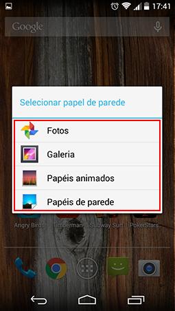Como Mudar o Papel de Parede no Android