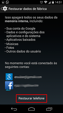 Como Restaurar as Configurações Originais no Android