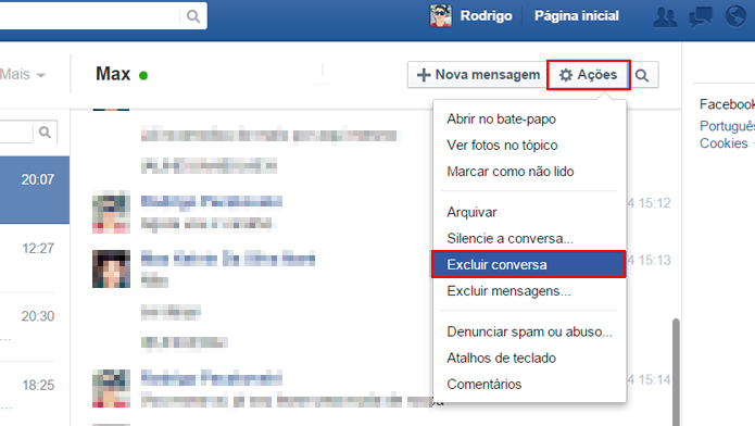 Como Marcar Todas as Conversas do Facebook