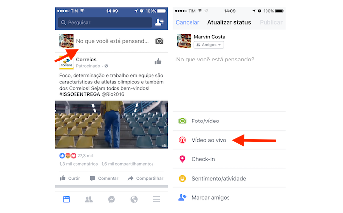 facebook-video-ao-vivo-passo-1