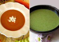 Sopas frescas e saudáveis