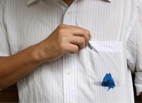 tirar manchas de caneta da roupa