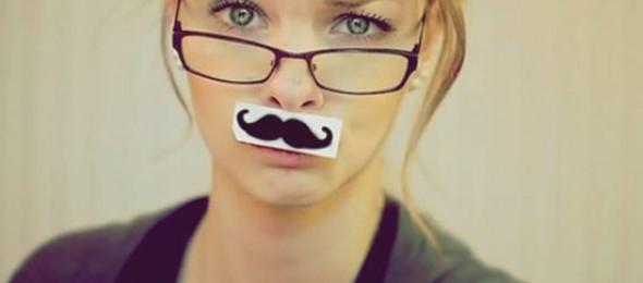 bigode feminino