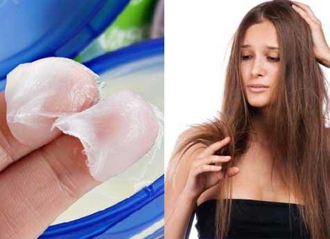 como usar vaselina no cabelo