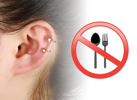 não pode comer quando fura a orelha