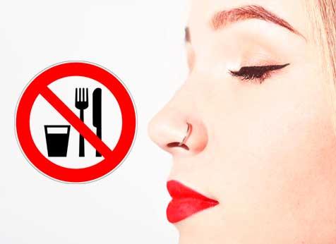 Não Pode Comer Quando Fura o Nariz